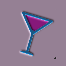 Exotic Blue Cocktail